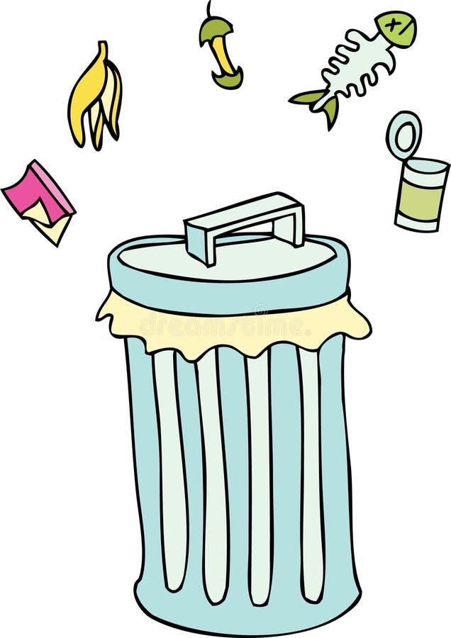 Trashcan illustration de vecteur