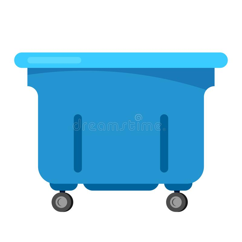 Trashcan vector bin recycle electronic waste garbage illustration. rubbish container electronic household rubbish ewaste stock illustration
