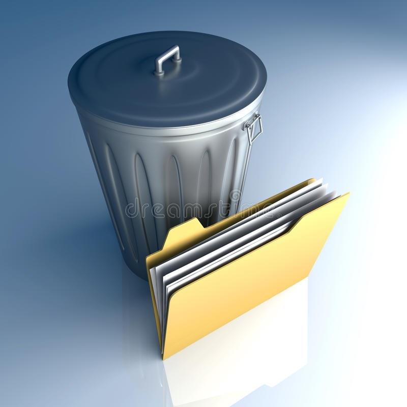 Download Trashed document stock illustration. Image of info, icon - 20024947