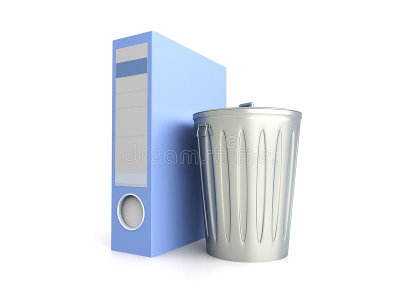 Download Trashed folder stock illustration. Illustration of dustbin - 14563884