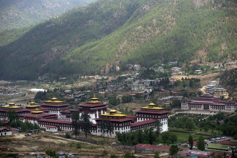 trashi thimphu dzong chhoe Бутана стоковое фото rf