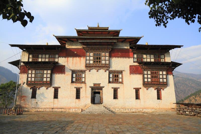 Trashigangen Dzong royaltyfria bilder