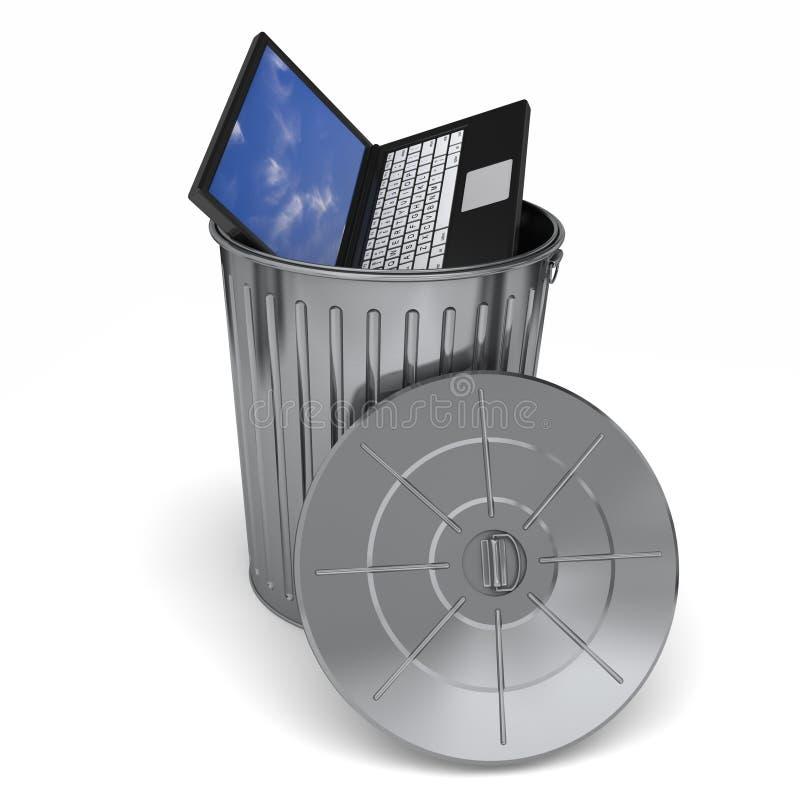 Trashing Computer stock abbildung
