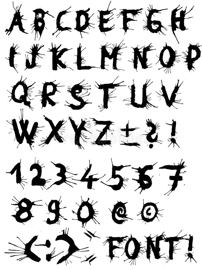 Download Trashy Vector Font Plus Some Special Character Stock Vector - Image: 10166436