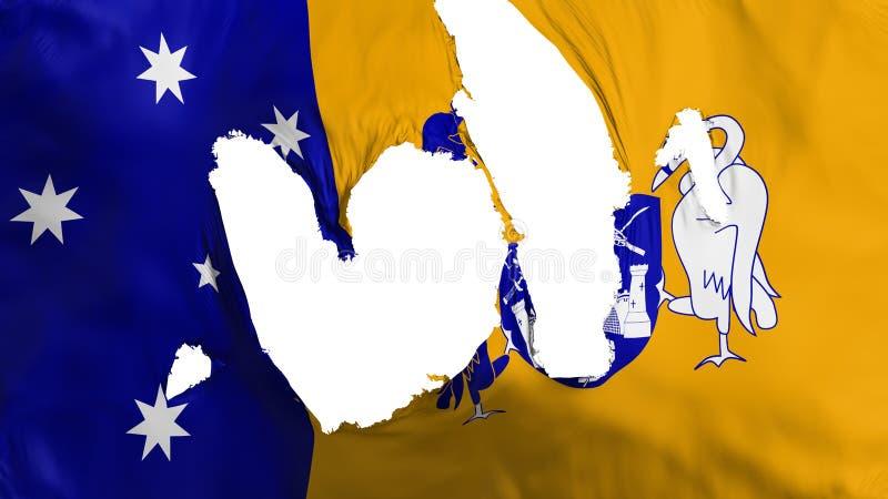Trasig Canberra flagga stock illustrationer