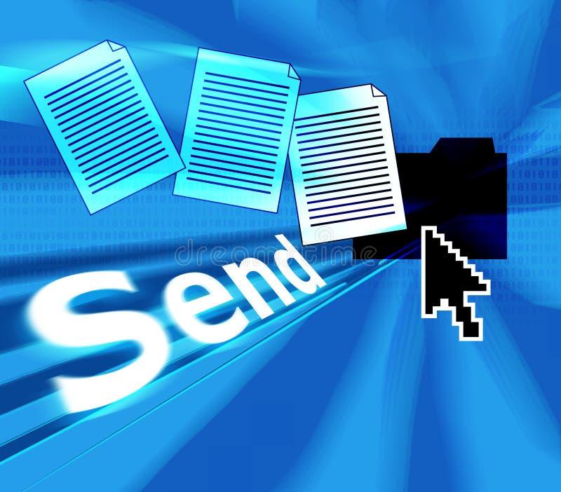 Trasmetta il email illustrazione di stock