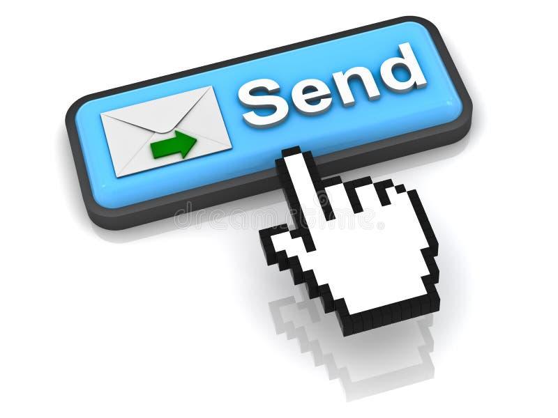 Trasmetta il tasto della posta di e illustrazione di stock