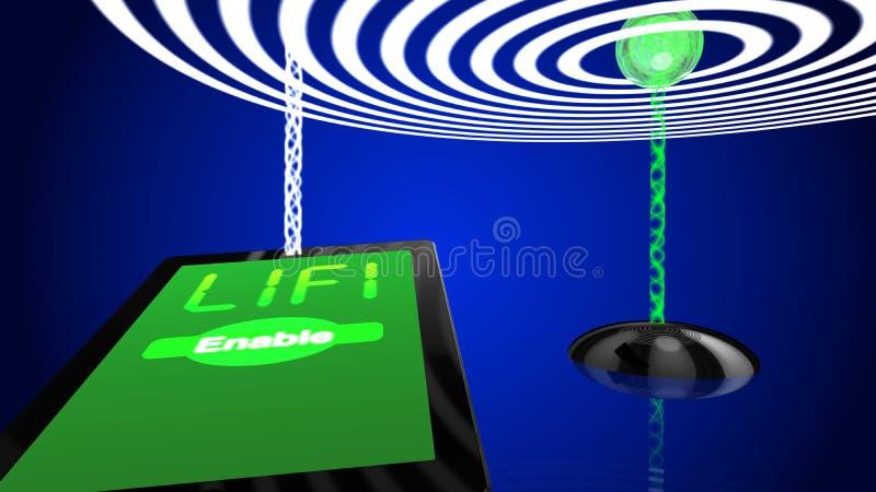 Trasmettitore dell'illustrazione di concetto di Wifi illustrazione vettoriale