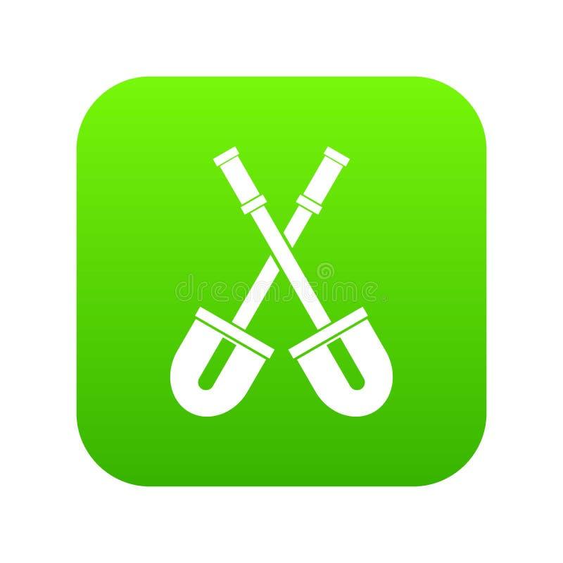 Traspala verde digital del icono ilustración del vector