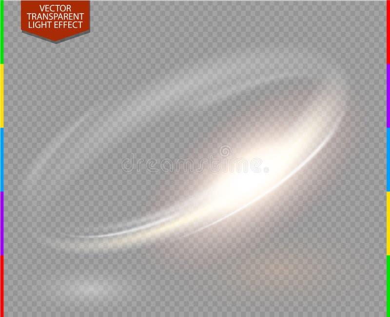 Trasparenza circolare di effetto della luce del transparennt del chiarore della lente nel formato supplementare soltanto royalty illustrazione gratis