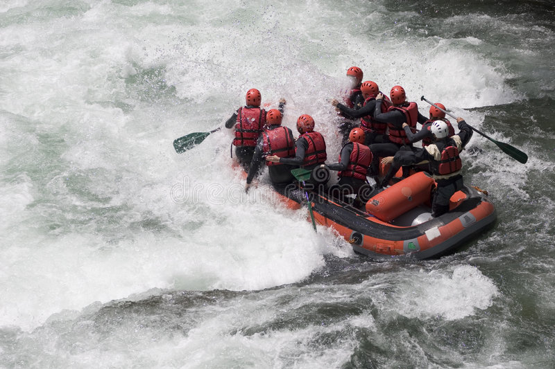 Trasportare di Whitewater immagine stock
