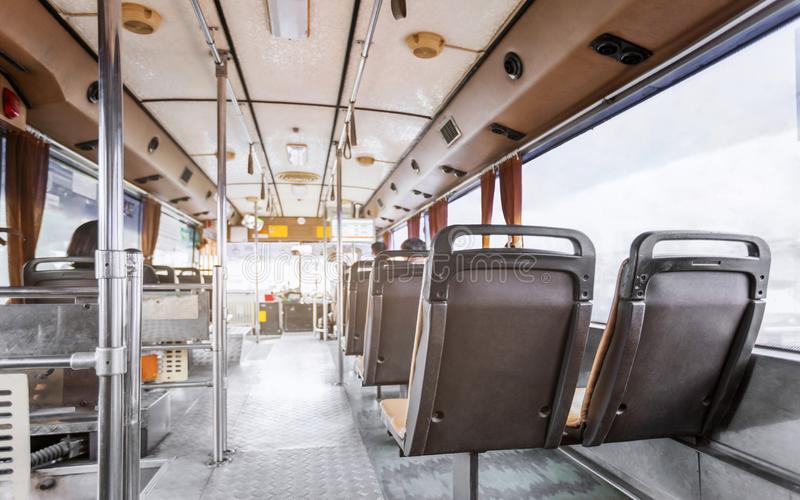 Trasporti i mezzi di trasporto di massa della città di Bangkok nella vista posteriore immagini stock libere da diritti