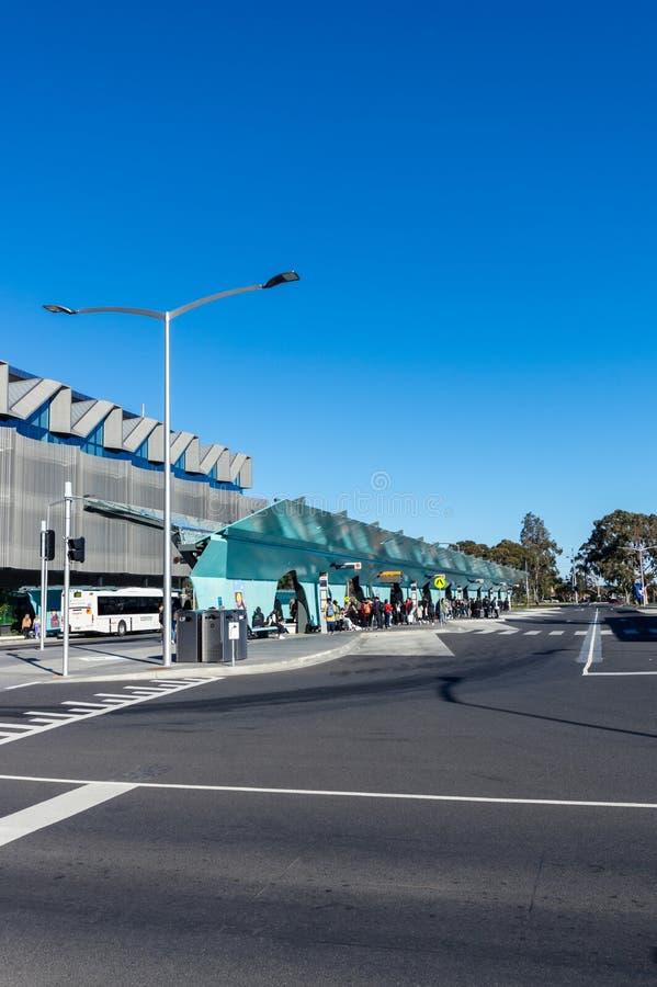 Trasporti lo scambio alla città universitaria di Clayton dell'università di Monash a Melbourne immagine stock libera da diritti