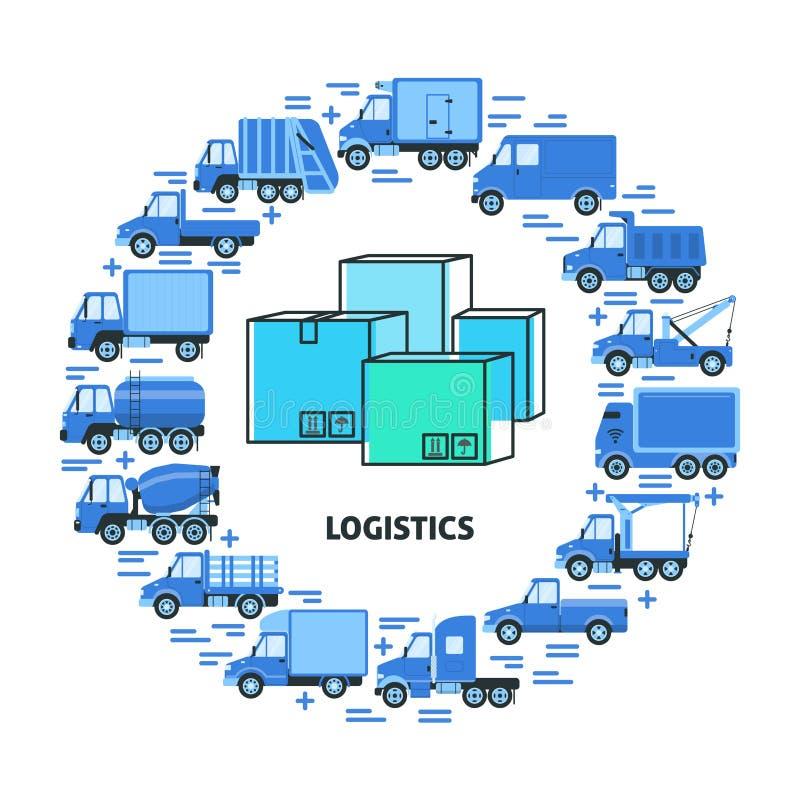 Concetto del giro del trasporto del carico con differenti for Tipi di stile