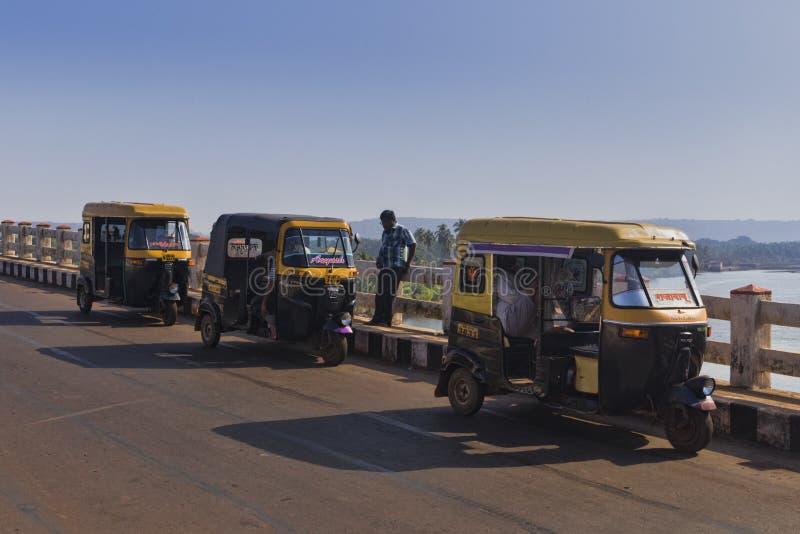 Trasporto del taxi nel viaggio dell'India fotografia stock