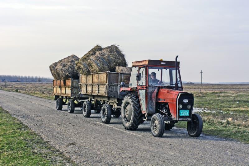 Trasporto del trattore fotografie stock