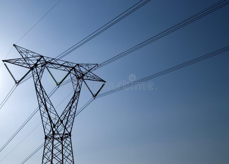 Trasporto dell'elettricità fotografie stock libere da diritti