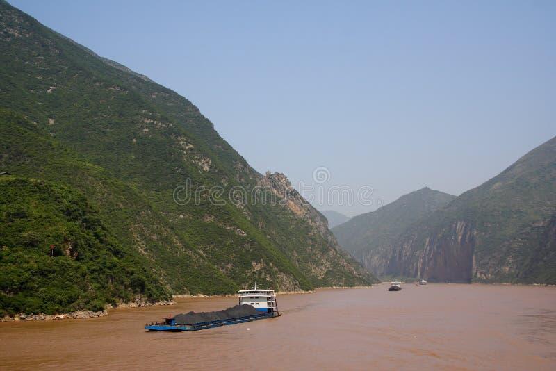 Trasporto di carbone del fiume di Yangtze immagine stock libera da diritti