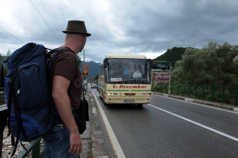 TRASPORTO DI EUROPA BALCANI MONTENEGRO PODGORICA immagine stock