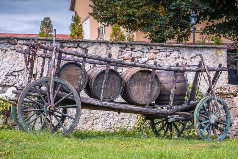 Trasporto di legno del cavallo fotografia stock