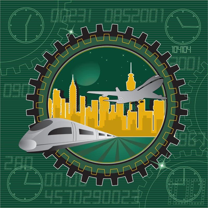 Download Trasporto di vettore illustrazione vettoriale. Illustrazione di orizzontale - 7316017
