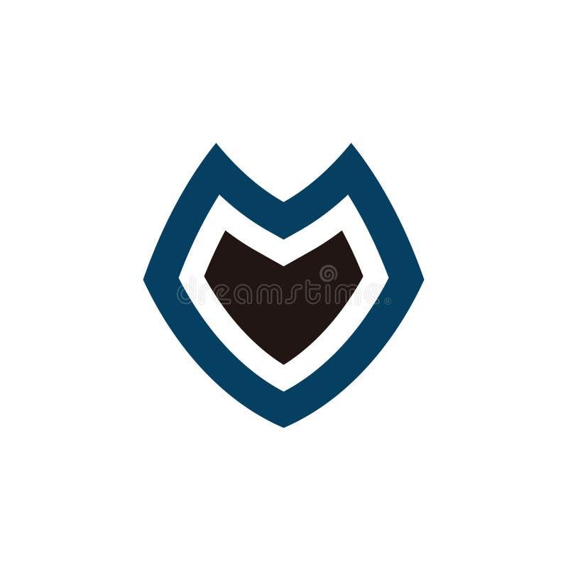 Trasporto di vettore di simbolo di m. V Logo Icon illustrazione di stock