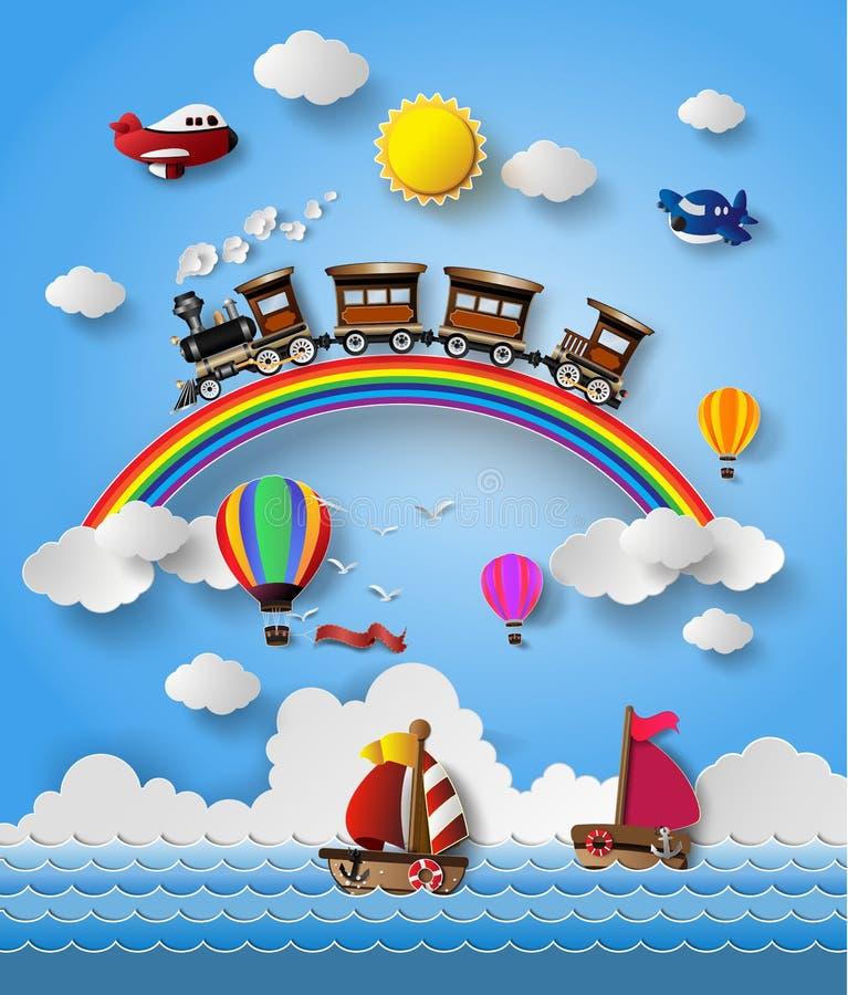 Trasporto di viaggio illustrazione di stock