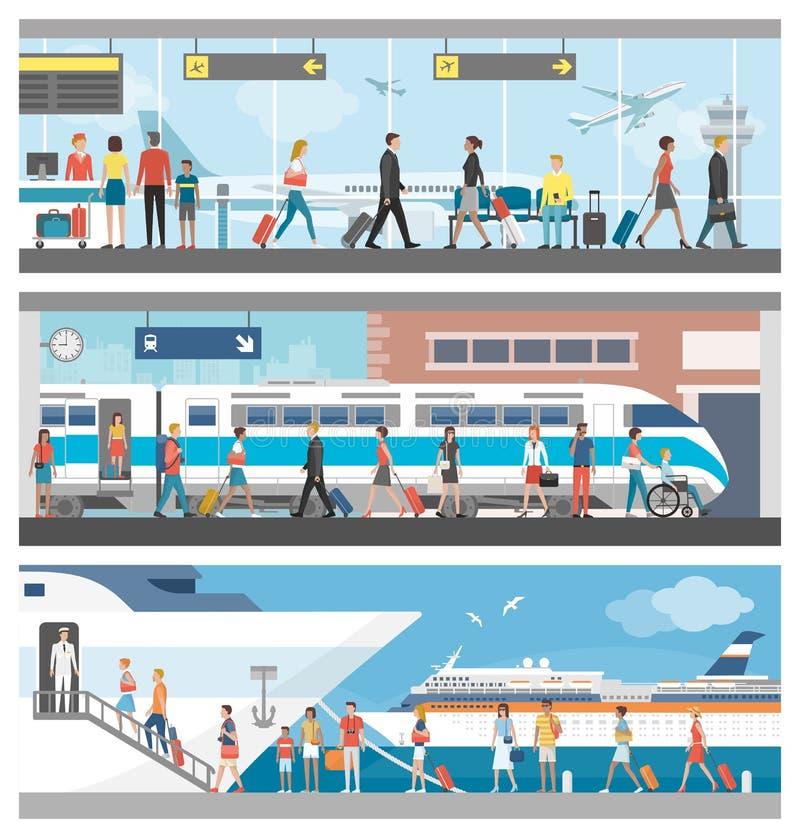 Trasporto e corsa illustrazione di stock