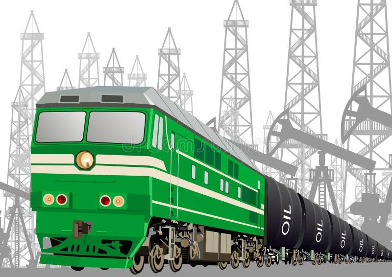 Trasporto ferroviario dei prodotti petroliferi immagini stock libere da diritti