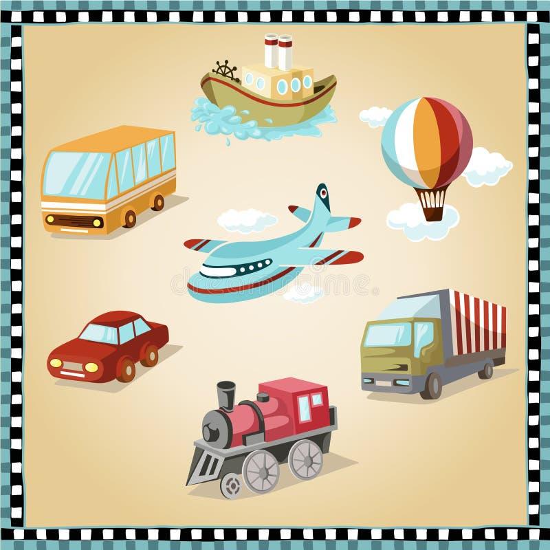 Trasporto illustrato illustrazione di stock