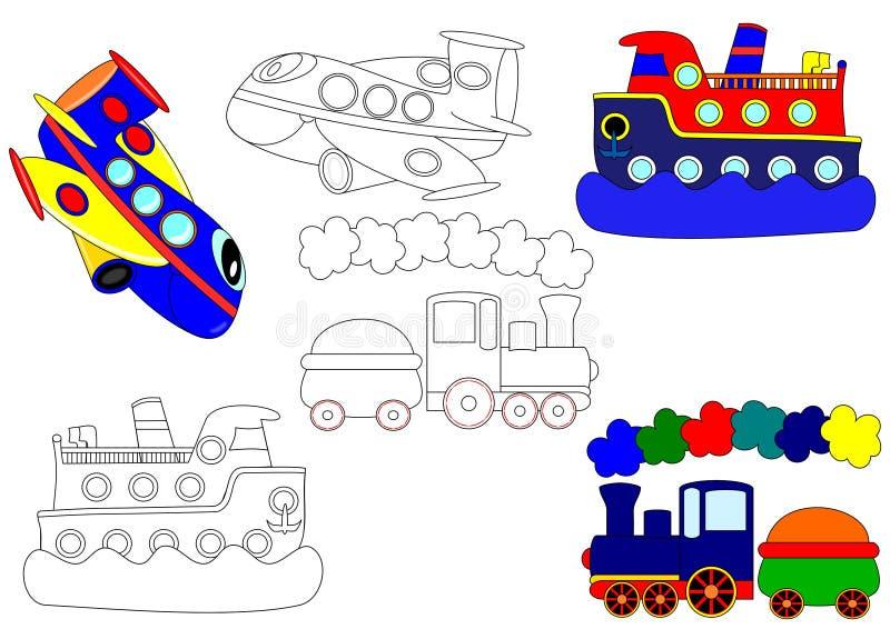 Trasporto - libri di coloritura illustrazione vettoriale