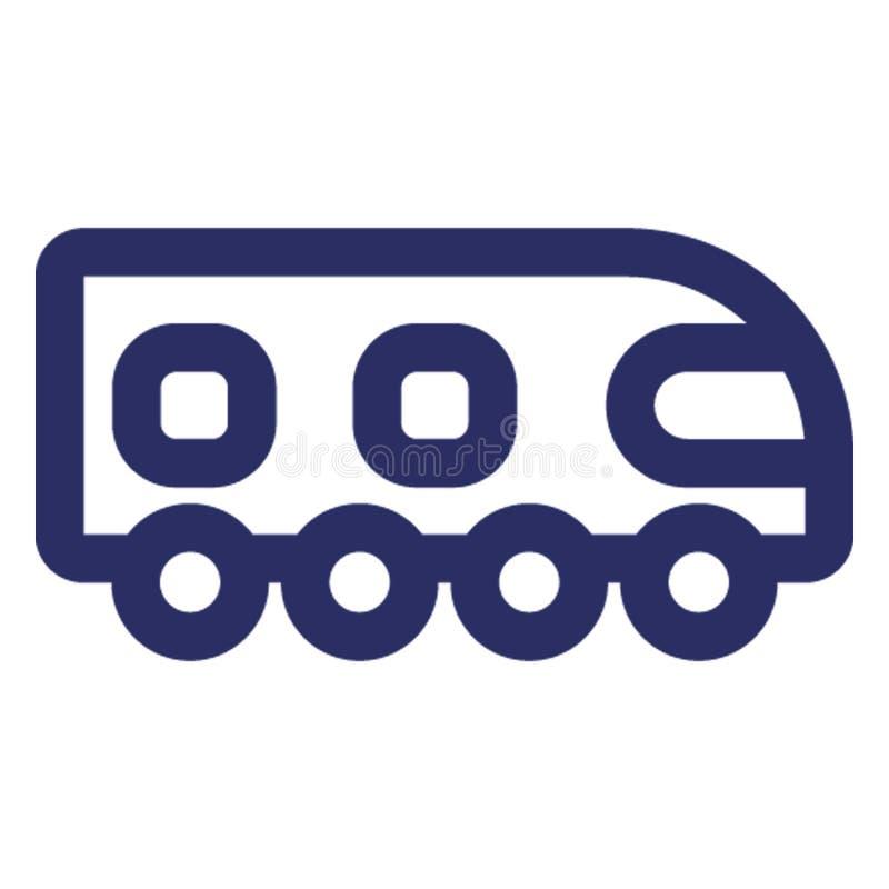 Trasporto locale, icona ferroviaria di vettore della strada che può modificare o pubblicare facilmente royalty illustrazione gratis