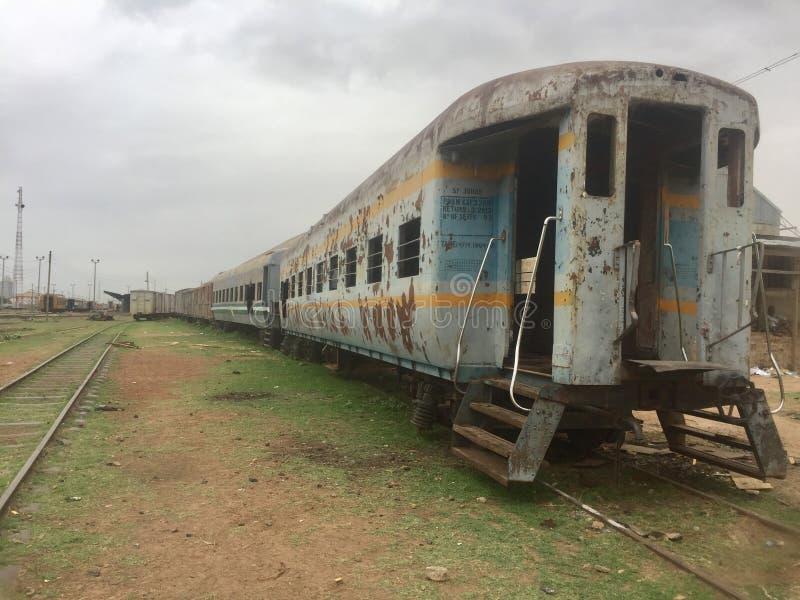 Trasporto locomotivo abbandonato fotografie stock