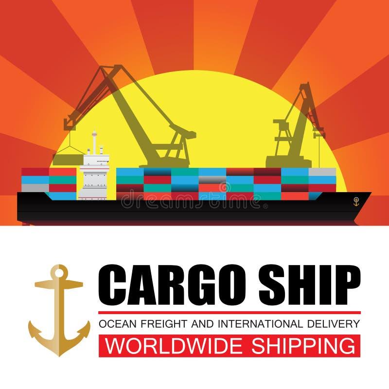 Trasporto mondiale, carico, logistica royalty illustrazione gratis