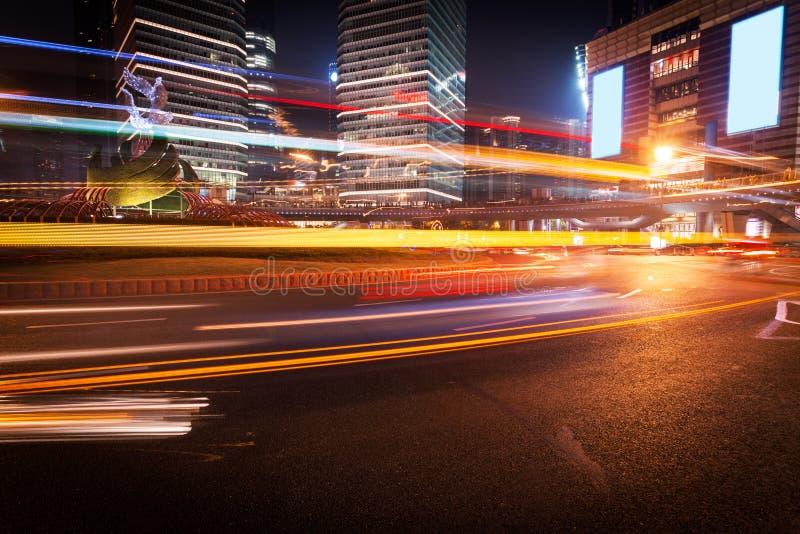 Trasporto urbano di Shanghai Pudong fotografia stock