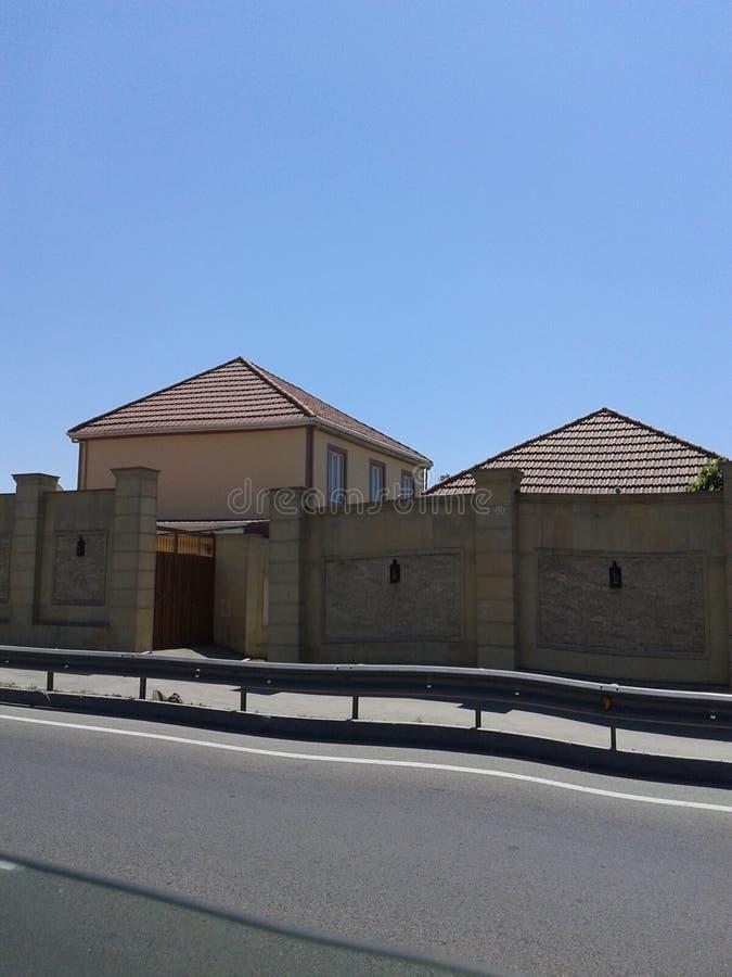 Trass à la maison de villa image stock