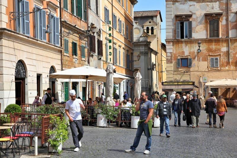Trastevere in Rom stockbilder