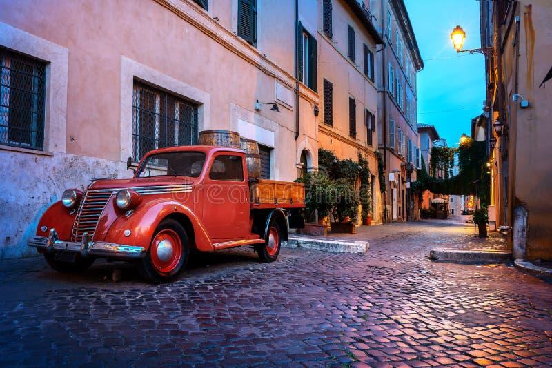 Trastevere-Straße in Rom lizenzfreies stockbild
