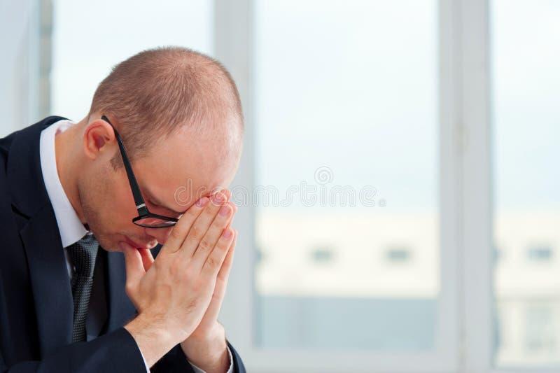 Trastorno del hombre de negocios imagenes de archivo