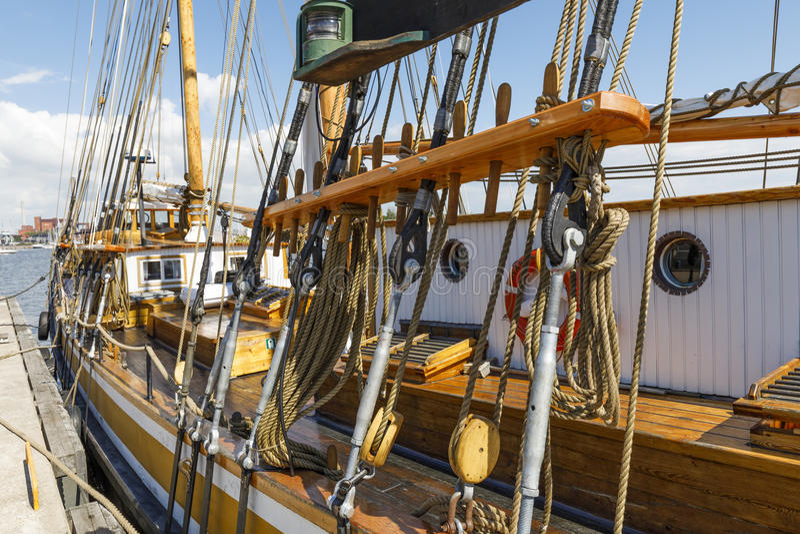 Trastos del velero foto de archivo