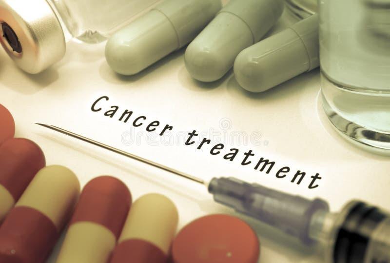 Tratamento contra o câncer fotografia de stock royalty free