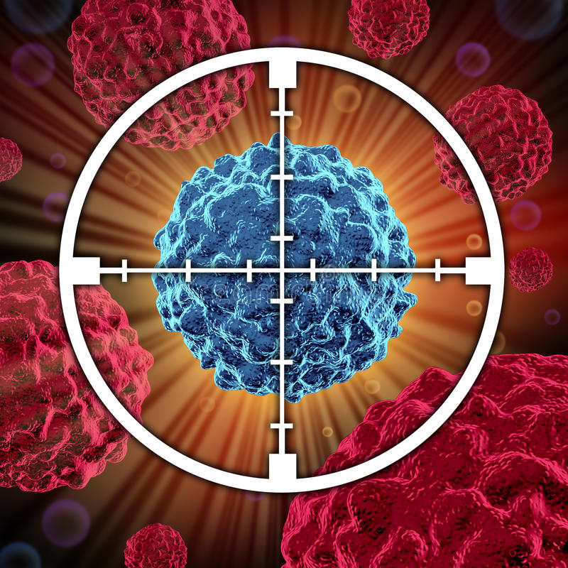 Tratamento contra o cancro ilustração do vetor