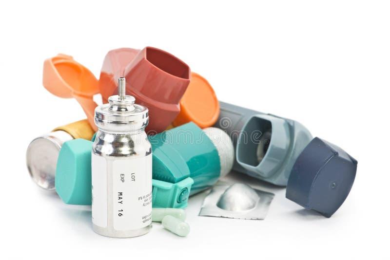 Tratamento da asma imagem de stock royalty free