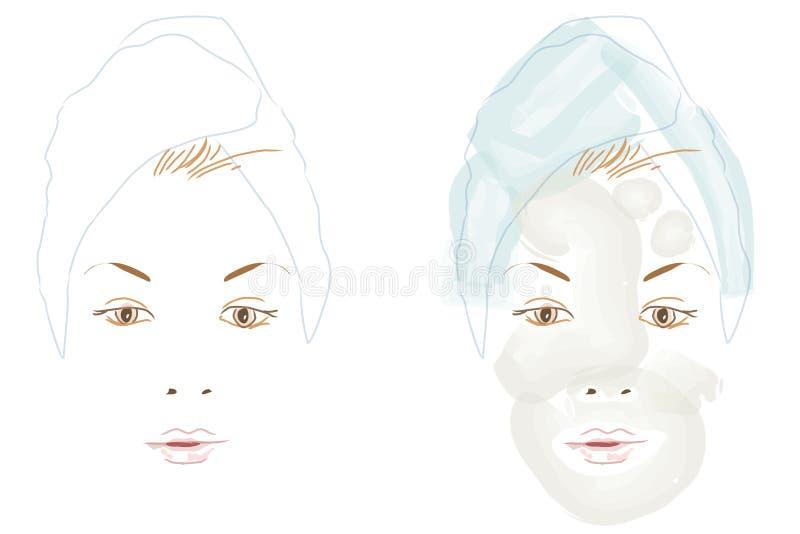 Tratamento da beleza ilustração stock