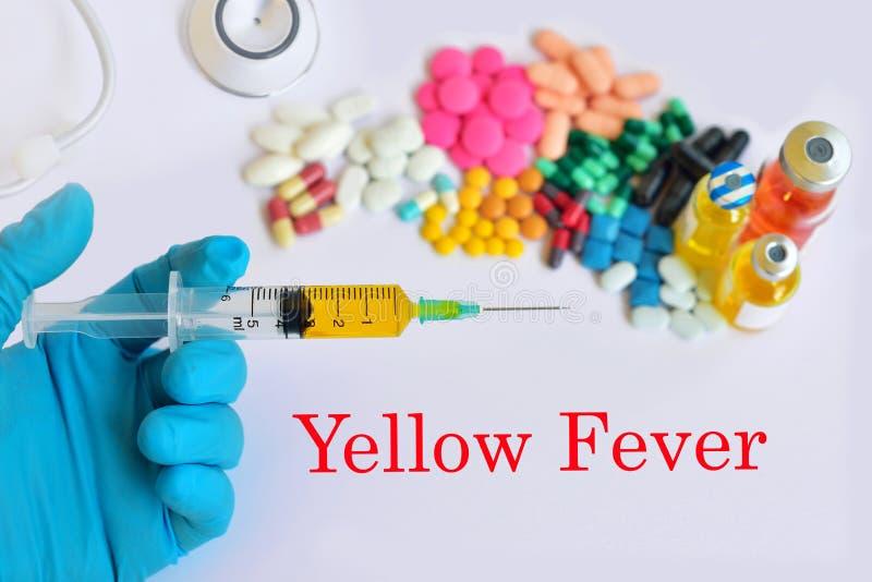 Tratamento da febre amarela fotografia de stock