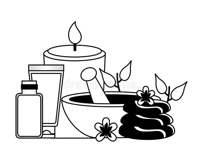 Tratamento da terapia dos termas ilustração do vetor