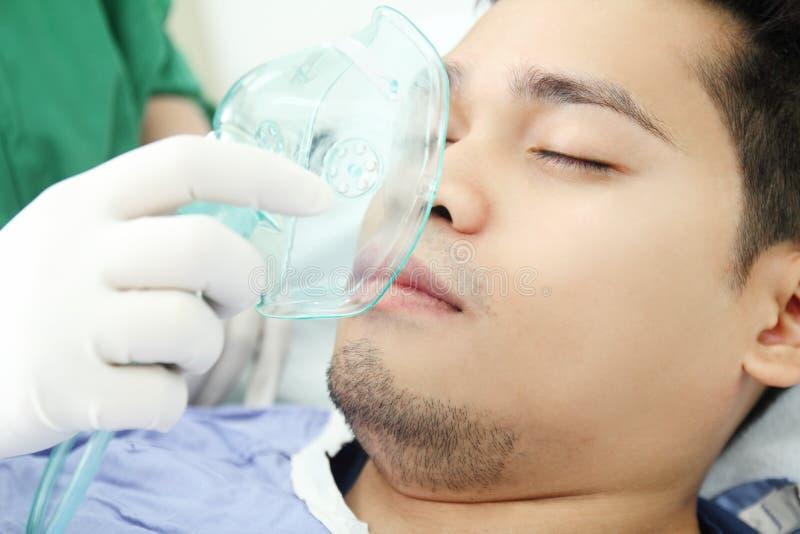 Tratamento do oxigênio foto de stock royalty free