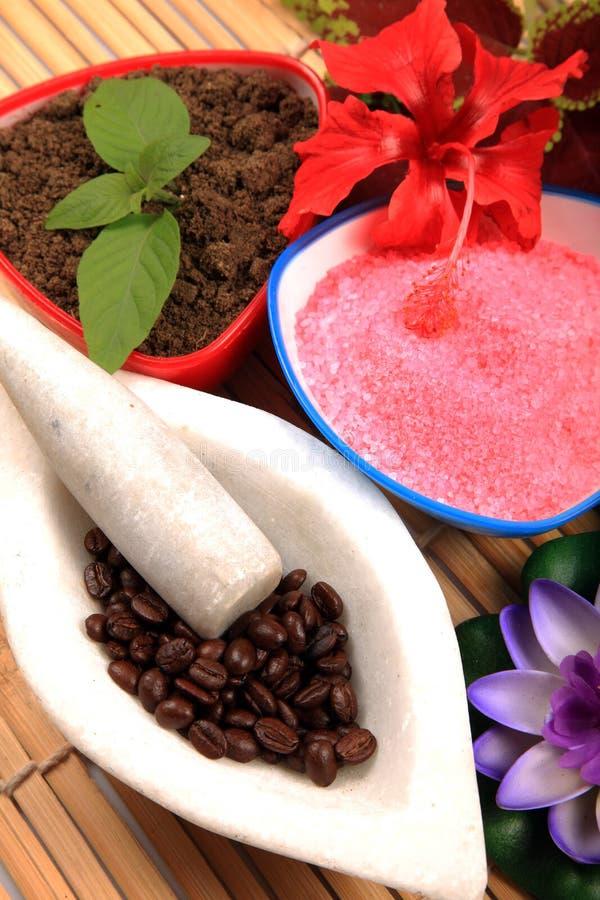 Tratamento dos termas do café e da lama imagem de stock royalty free