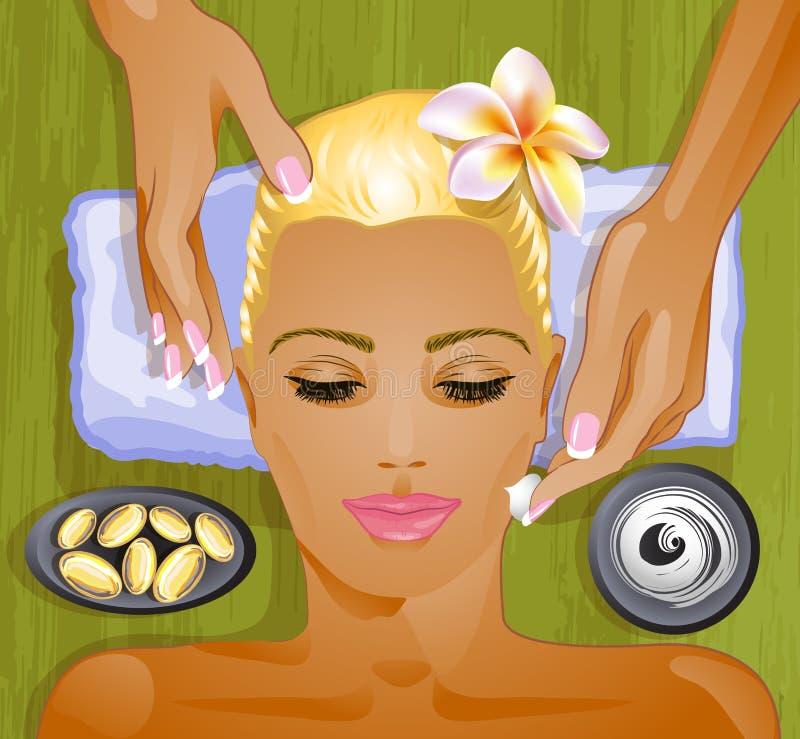 Tratamento facial ilustração do vetor