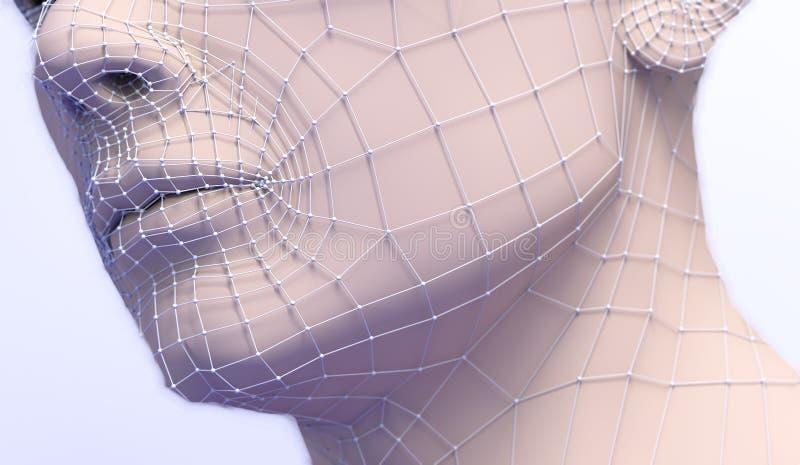 Tratamento médico estético antienvelhecimento ilustração royalty free